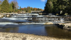 Sauble Falls in Autumn, taken with SlowShutter Cam. iPhone 6s.